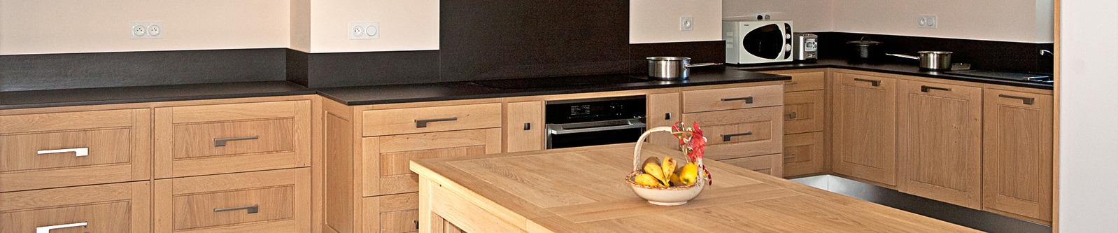 cuisine sur mesure cantal ydes artisan bois ganne. Black Bedroom Furniture Sets. Home Design Ideas