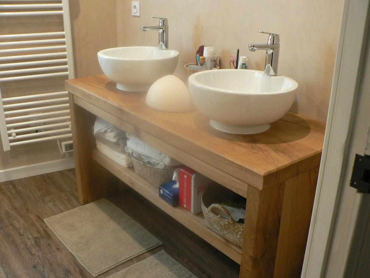 Salle De Bain Avec Bois meuble salle de bain cantal ydes bois ganne